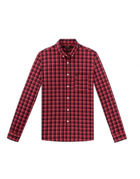 Slim Button Down Shirt Lee Warp Red