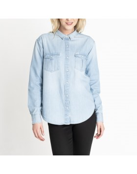 Relaxed Western Shirt Washed Lee Black