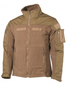"FLEECE-JACKE, ""COMBAT"", COYOTE TAN"