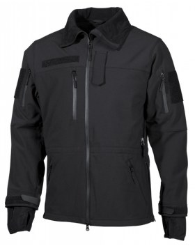SOFT SHELL JACKE, HIGH DEFENCE, SCHWARZ