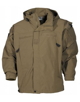 US SOFT SHELL JACKE, COYOTE TAN, GEN III, LEVEL 5