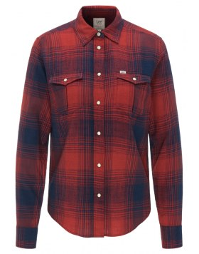 Bluse Lee Western Shirt Red/Blue