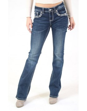 Bootcut Jeans Grace in L.A Dark Wash Silver