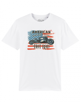 Hot Rod T-Shirt Weiss Salathé