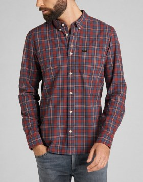 Langarmhemd Lee Button Down Fired Brick